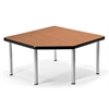 OFM Corner Table with 5 Legs, Cherry